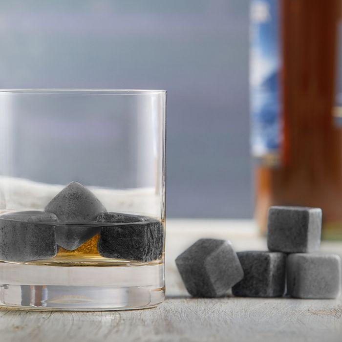 Whisky Steine in Holzkiste mit Gravur - Elegant