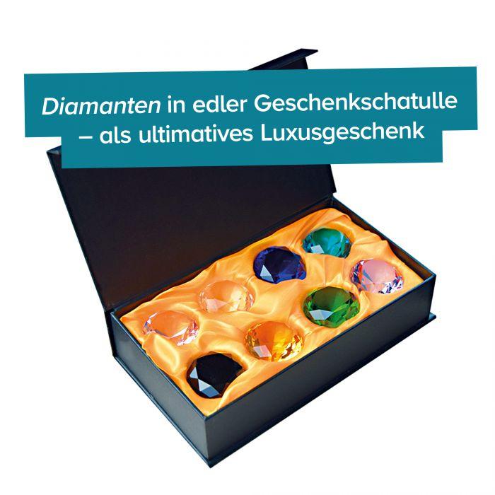 Diamanten in Geschenkbox