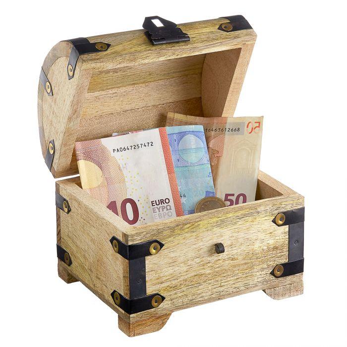 Geld Schatztruhe zum 60. Geburtstag