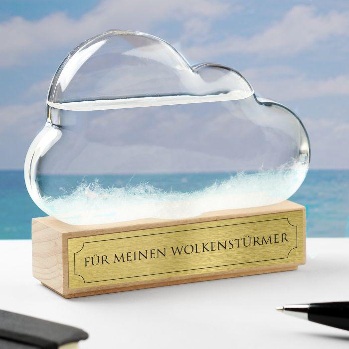 Sturmglas zur Wettervorhersage - Wolke