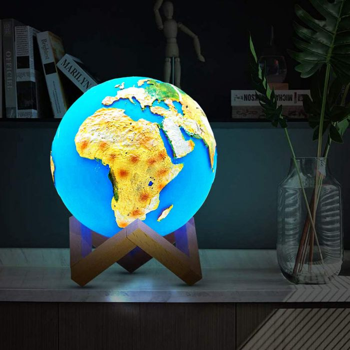 LED Lampe mit Touchfunktion - Globus