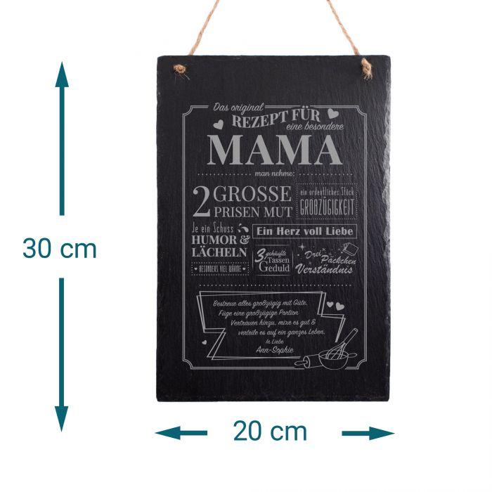 Große Schiefertafel mit Gravur - Rezept Mama