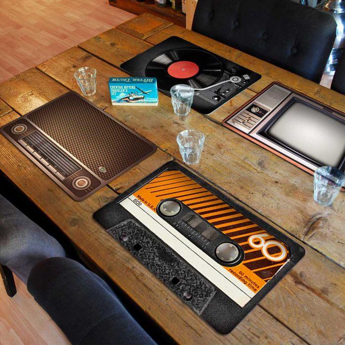 Tischset im Vintage Look - 4-teilig