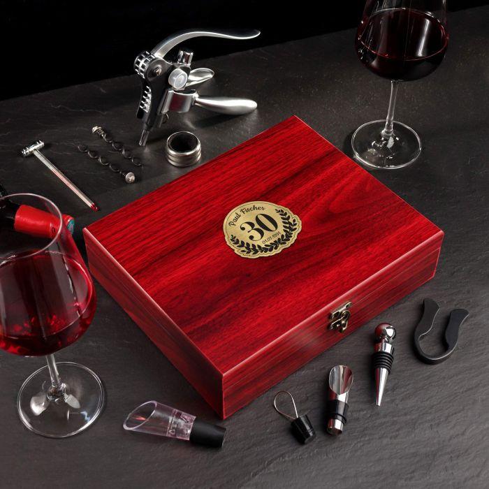 Wein Sommelier Set zum 30. Geburtstag