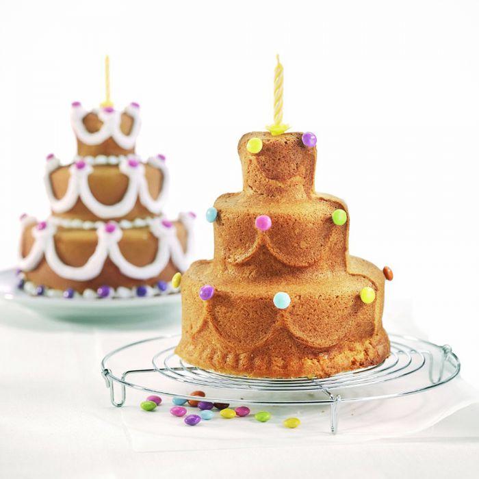 Moule à gâteau d'anniversaire 3D