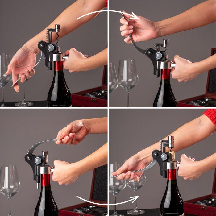 Wein Sommelier Set mit Gravur zur Hochzeit - Ringe