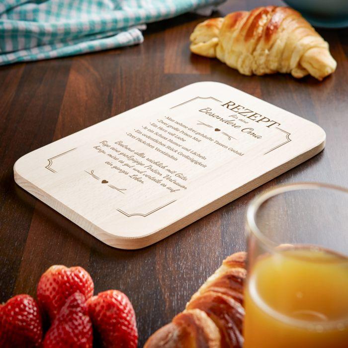 Frühstücksbrettchen mit Gravur für Oma - Rezept