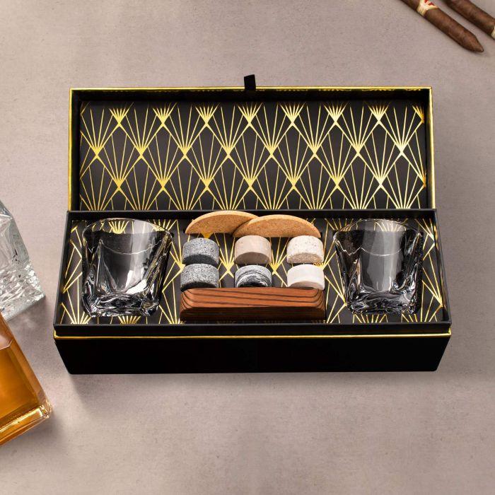 Whisky Set mit Whiskygläsern in edler Geschenkbox