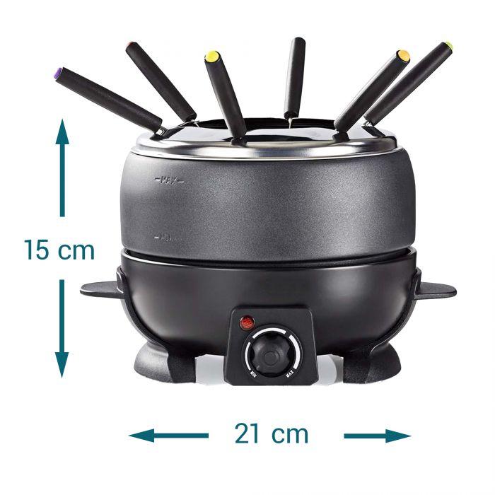4in1 Elektrisches Fondue Set und Feuertopf (zum Warmhalten)