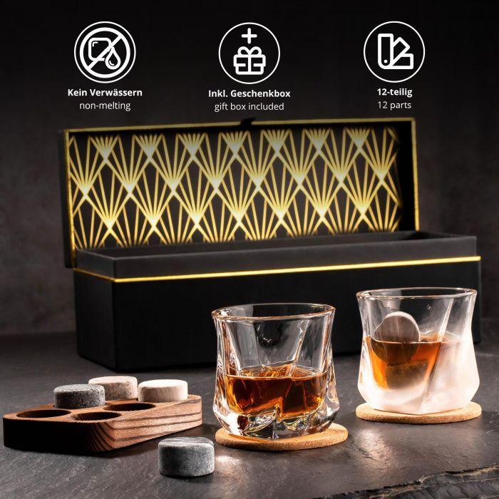 Whisky Set in edler Geschenkbox zum 40. Geburtstag