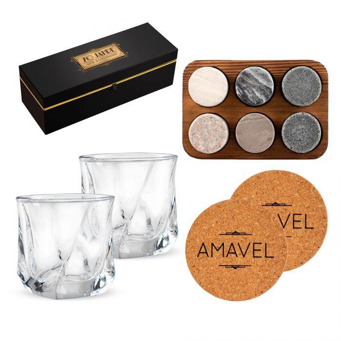 Whisky Set in edler Geschenkbox zum 70. Geburtstag