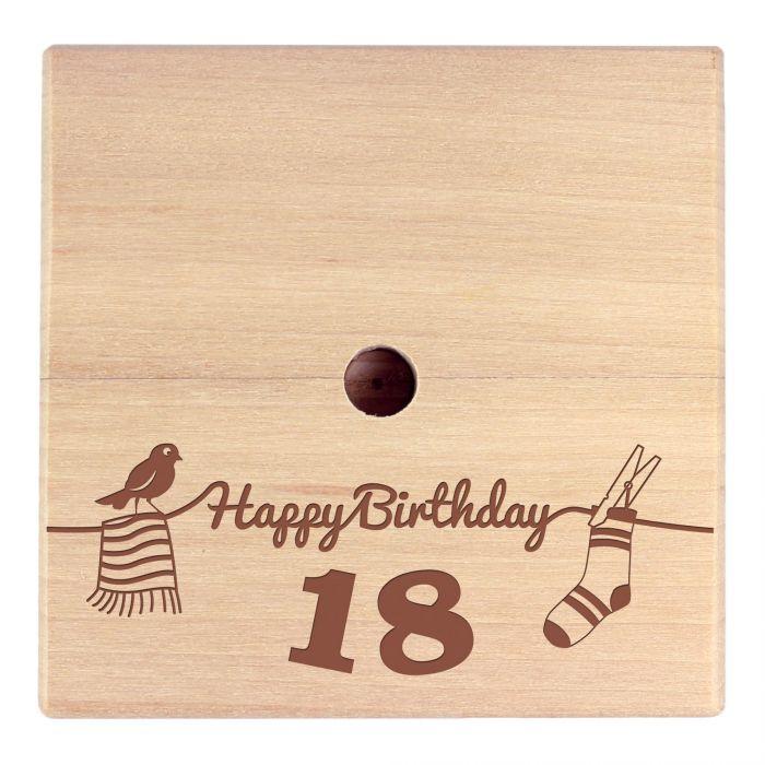 Geld Wäschespinne zum 18. Geburtstag