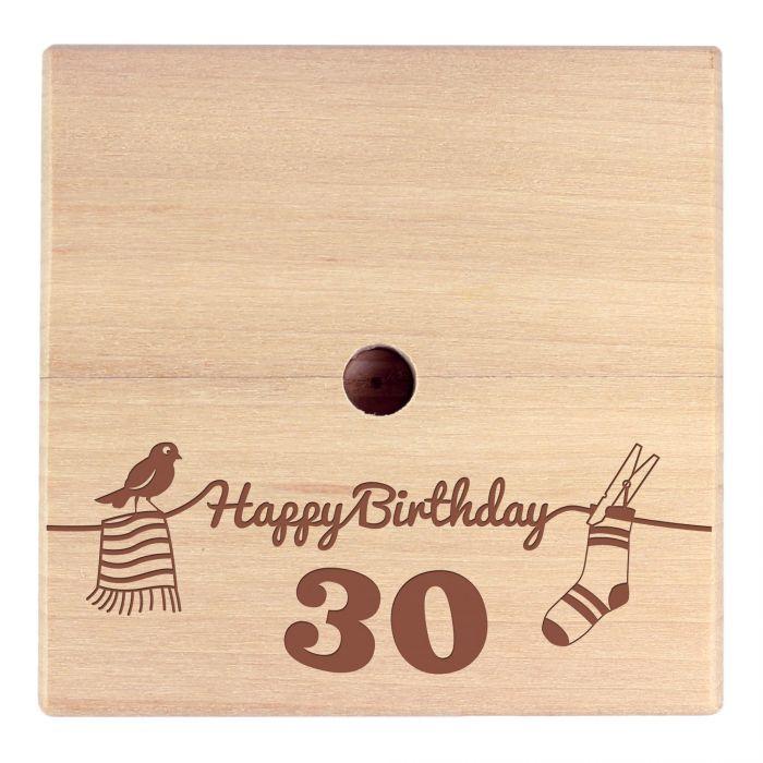 Geld Wäschespinne zum 30. Geburtstag