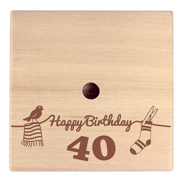 Geld Wäschespinne zum 40. Geburtstag