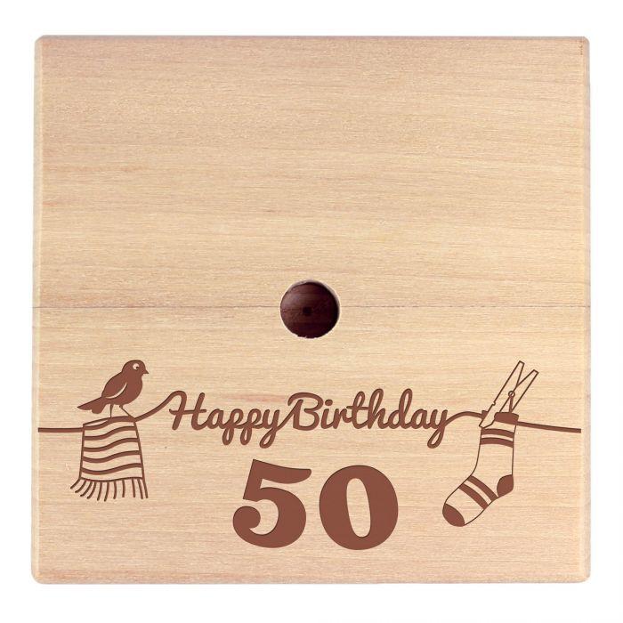 Geld Wäschespinne zum 50. Geburtstag