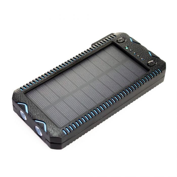 Solar Powerbank mit Taschenlampe
