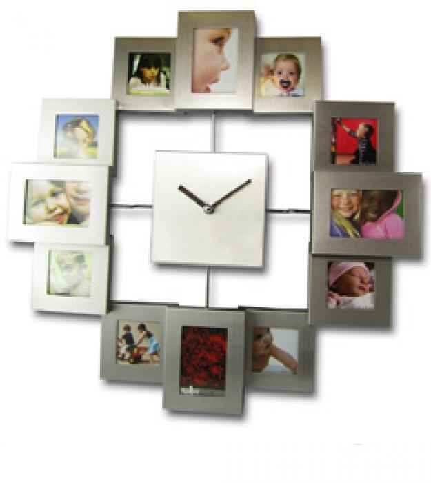 Bilderrahmen mit Uhr