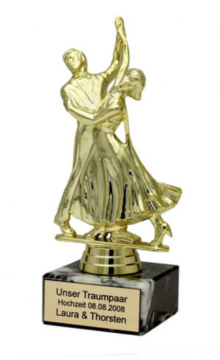 Traumpaar Statue mit Gravur