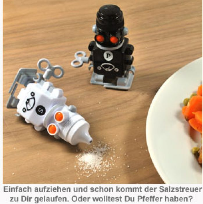 Salz & Pfeffer Aufzieh-Roboter