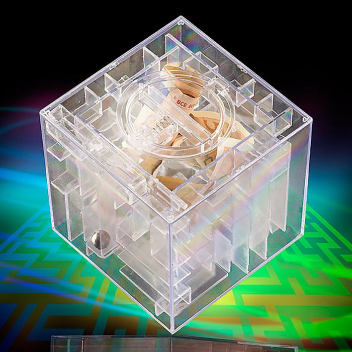 Spardose - Geld Labyrinth