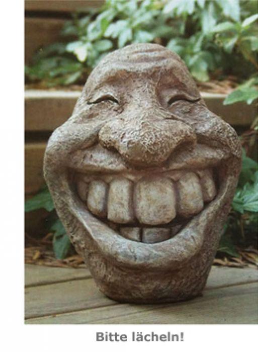 Deko Steinfigur - Smiley