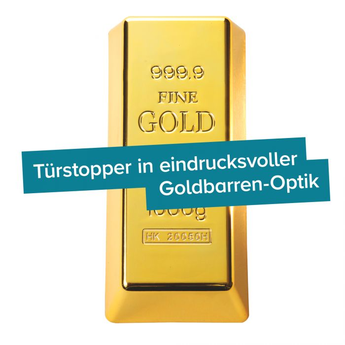 Goldbarren Türstopper