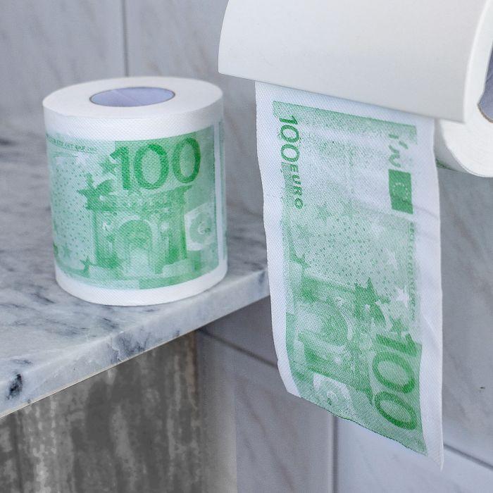 Geld Toilettenpapier - 100 Euro - 2er Set
