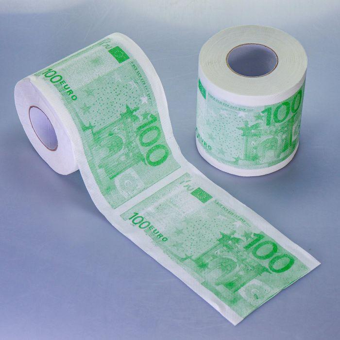 bedrucktes geld toilettenpapier 100 euro schein. Black Bedroom Furniture Sets. Home Design Ideas