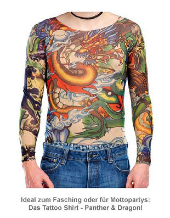 Tattoo Shirt - Panther & Dragon