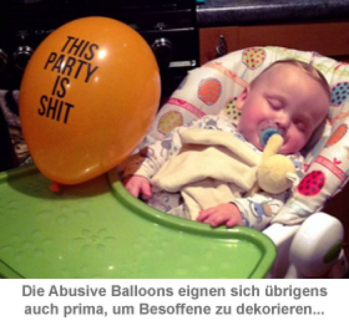 Abusive Balloons 12er Set - Fiese Luftballons