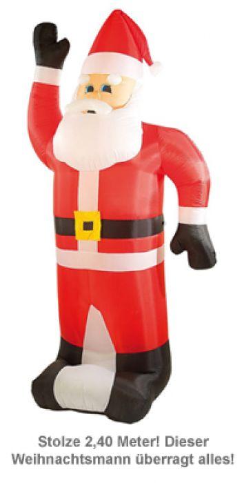 aufblasbarer weihnachtsmann xxl 240 cm selbstaufblasend. Black Bedroom Furniture Sets. Home Design Ideas