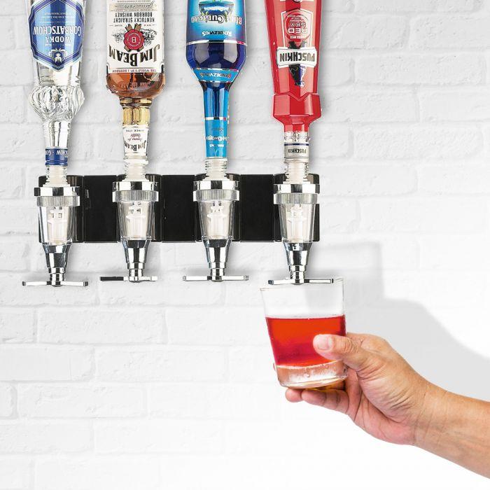 Bar Butler – support mural pour 4 bouteilles
