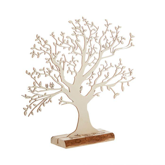 Baum mit Sockel graviert - zur Hochzeit (groß)