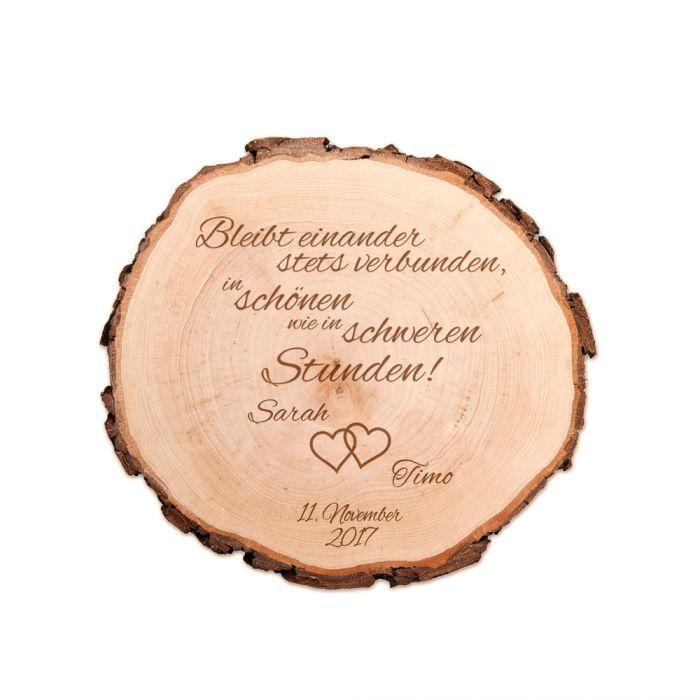 Baumscheibe zur Hochzeit - Bleibt verbunden