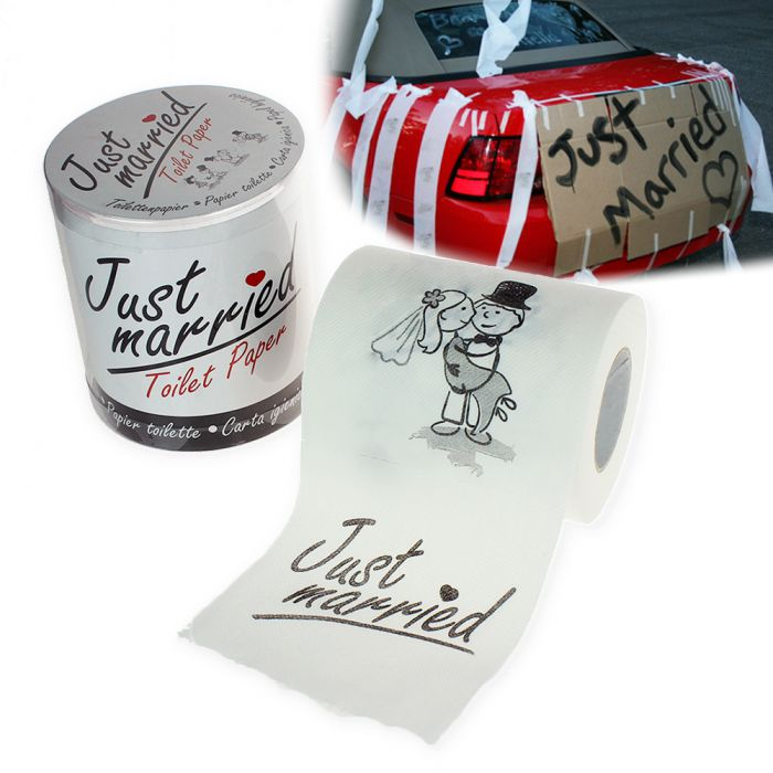 Papier toilette imprimé – Just Married
