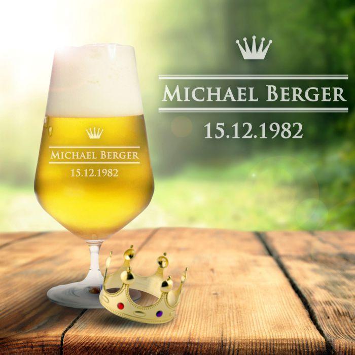 Bierglas mit Gravur - Royal