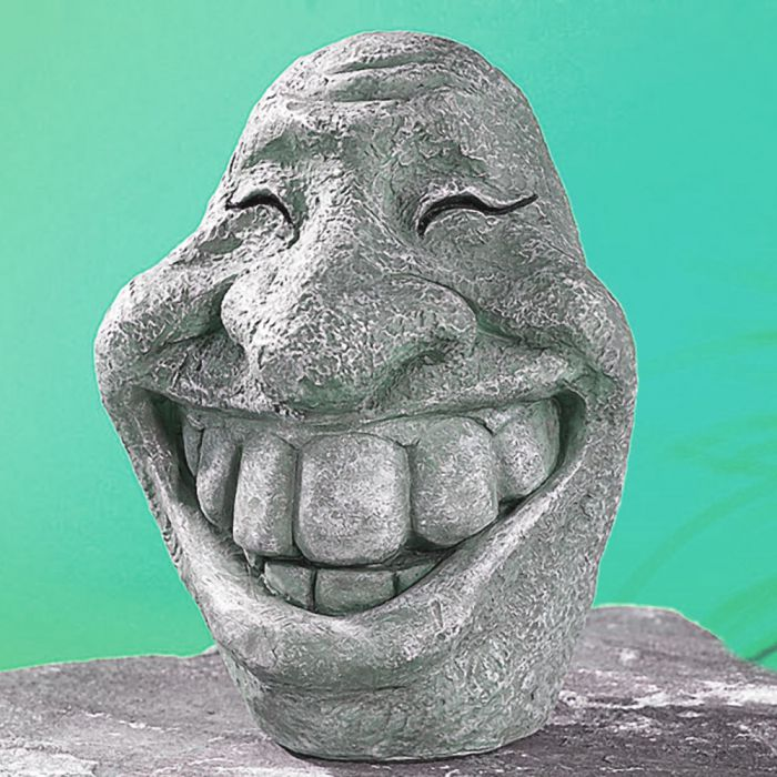 Deko Steinfigur - Smiley