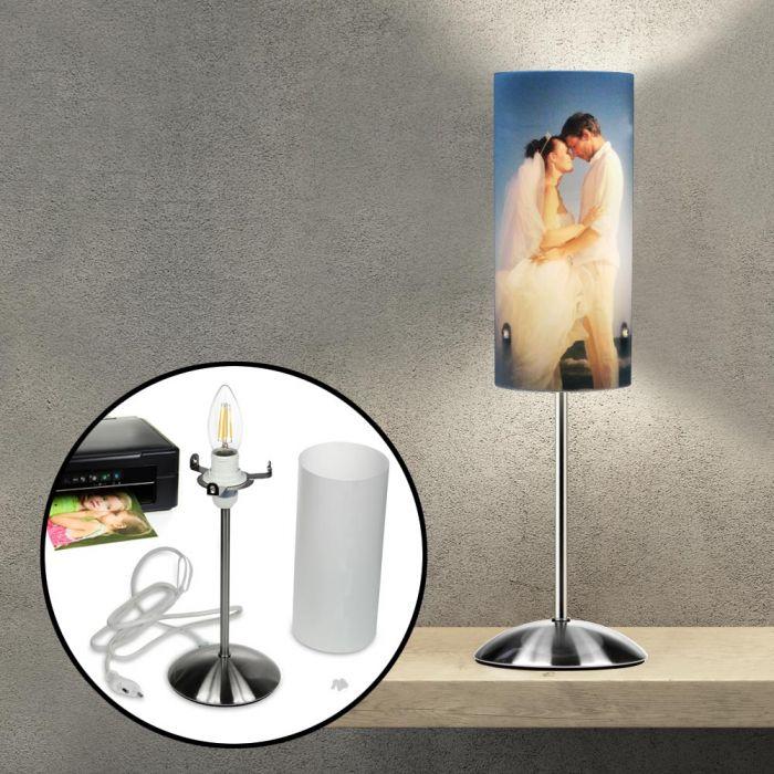 Design Fotolampe zur Hochzeit - personalisiert