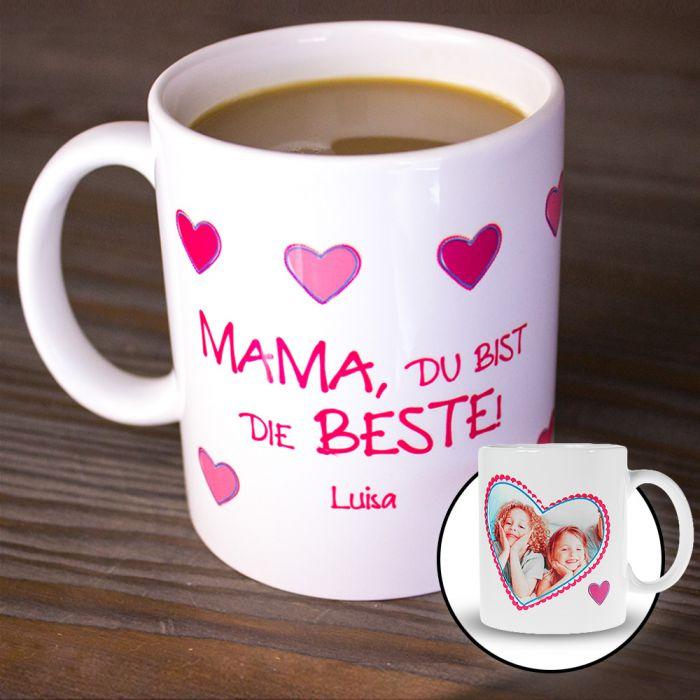 Fototasse - Mama ist die Beste - persönliches Geschenk für Mütter