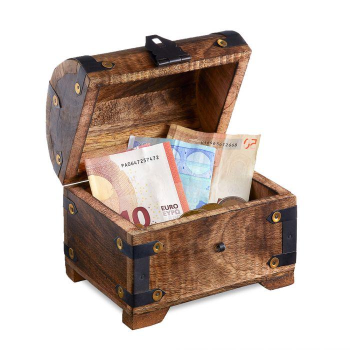 Geld Schatztruhe zur Silberhochzeit Dunkel