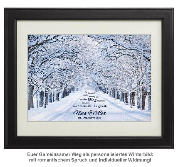 Gemeinsamer Weg Winterbild - personalisiert