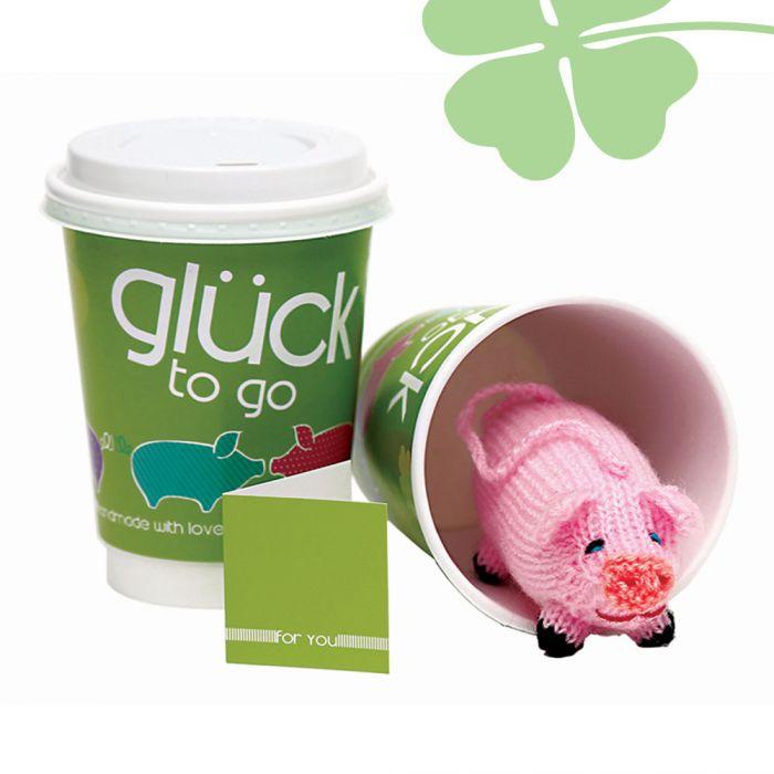 Glück to go - mit handgefertigtem Glücksschwein