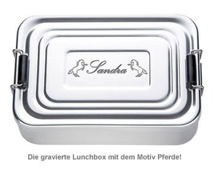 Gravierte Lunchbox für Mädchen - quadratisch