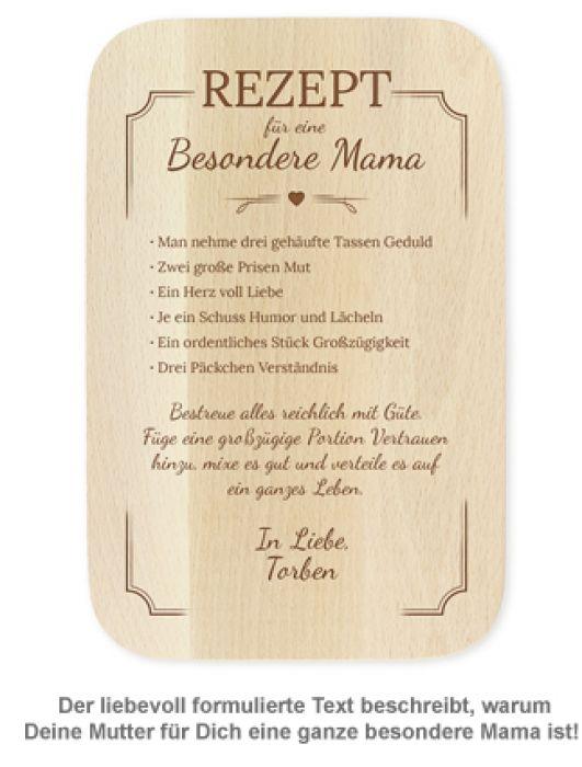 Graviertes Frühstücksbrettchen - Mama Rezept