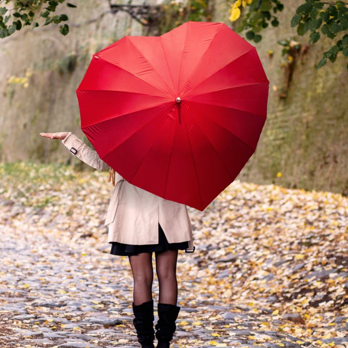 Herz Regenschirm