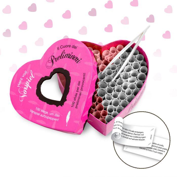 Herz voll Vorspiel - Set mit 100 Losen für Paare