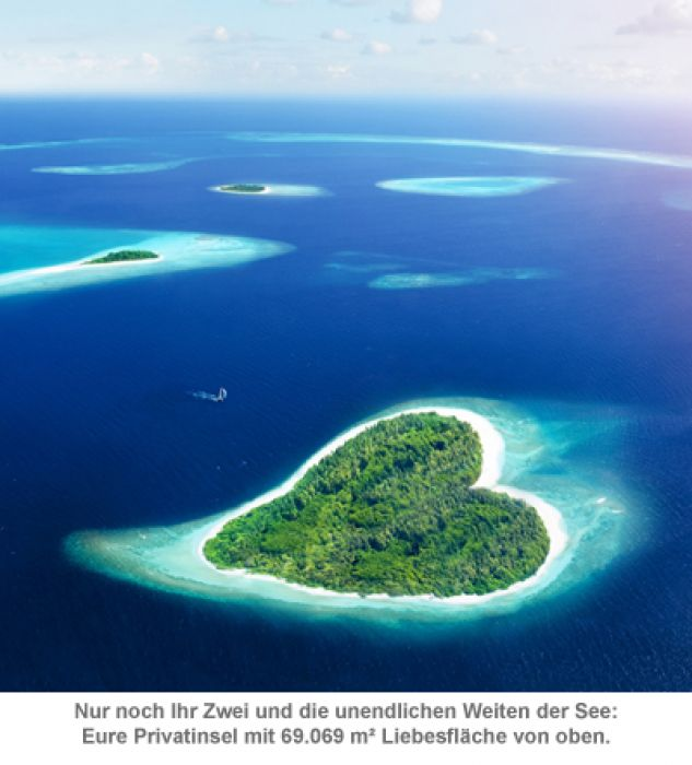 Herzinsel für Verliebte - Traumhafte karibische Liebesinsel für 2