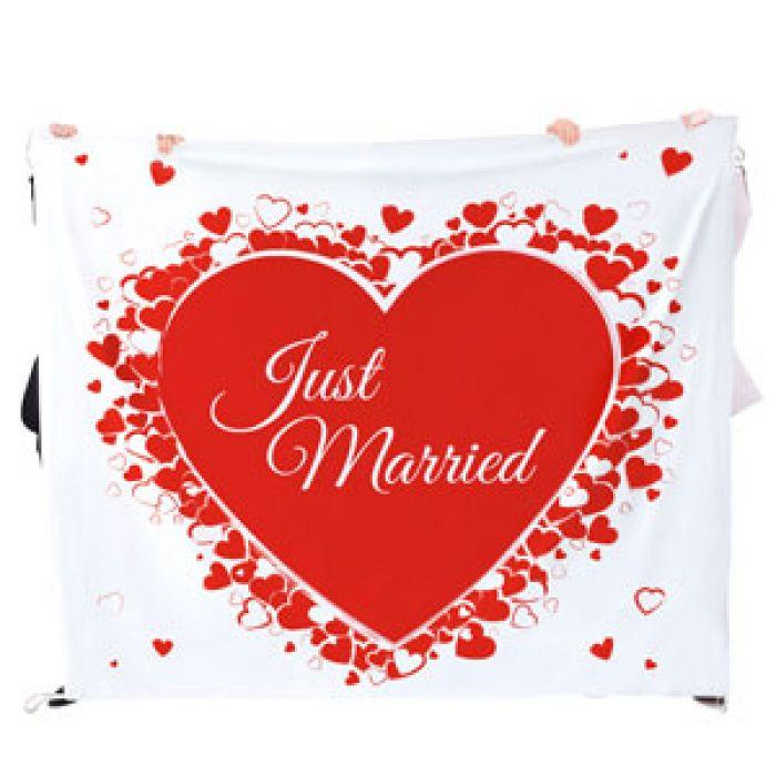 Hochzeitslaken Herzmotiv - zum Ausschneiden