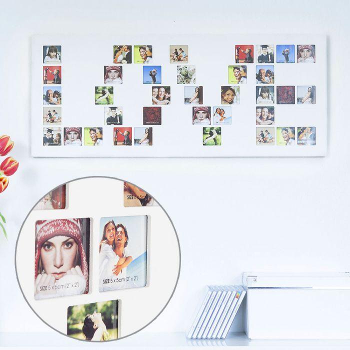 Holz Bilderrahmen Love - viel Platz für Erinnerungsbilder