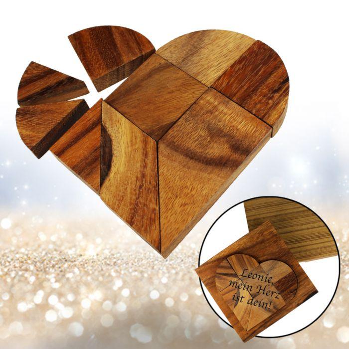 Holz Herz-Puzzle - Herz